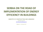 s erbia on the road of implementation of energy efficiency in buildings