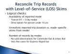 reconcile trip records with level of service los skims