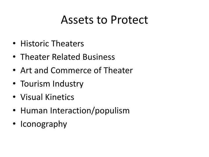 Assets to Protect