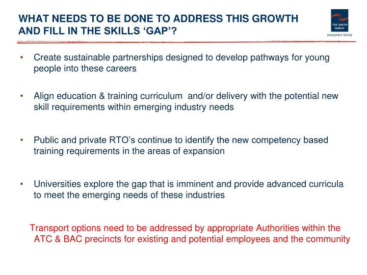 WHAT NEEDS TO BE DONE TO ADDRESS THIS GROWTH AND FILL IN THE SKILLS 'GAP'?