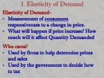 1 elasticity of demand
