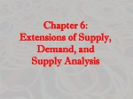 chapter 6 extensions of supply demand and supply analysis