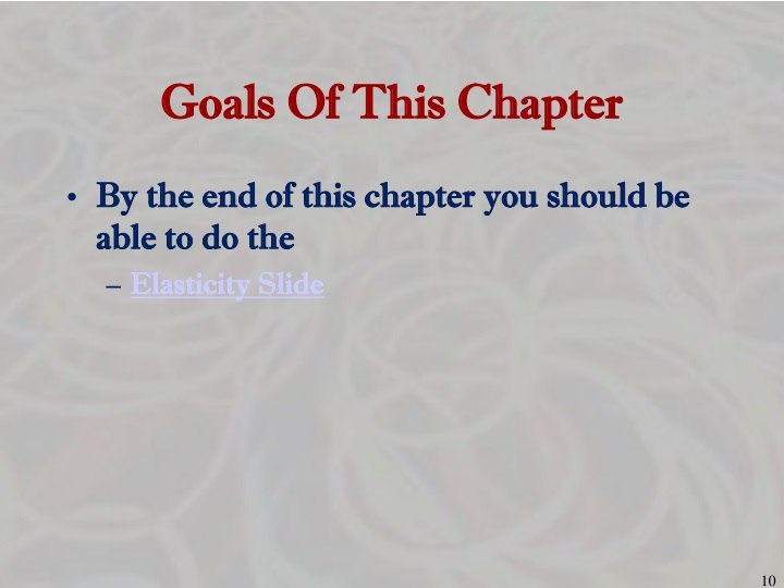 Goals Of This Chapter