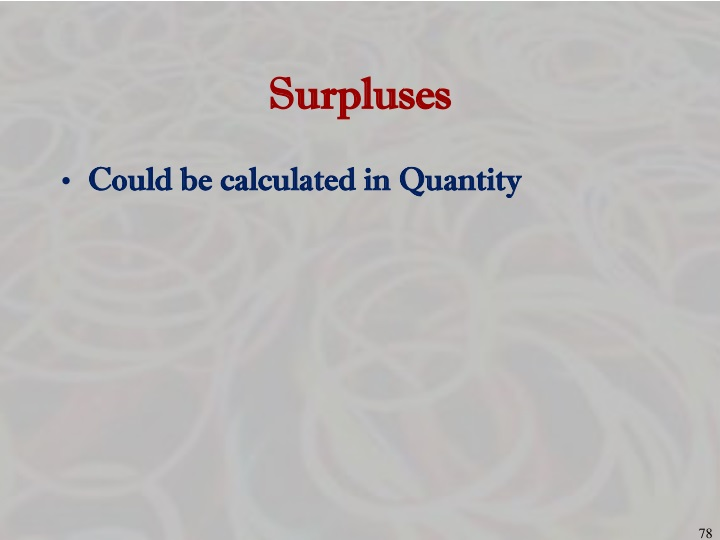 Surpluses