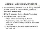 example execution monitoring