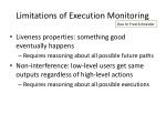 limitations of execution monitoring