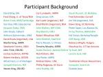 participant background