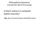 philosophical questions usually not worth discussing