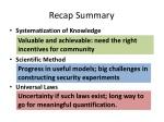 recap summary