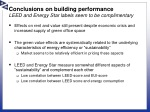 conclusions on building performance leed and energy star labels seem to be complimentary