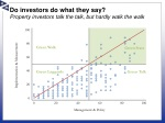 do investors do what they say property investors talk the talk but hardly walk the walk