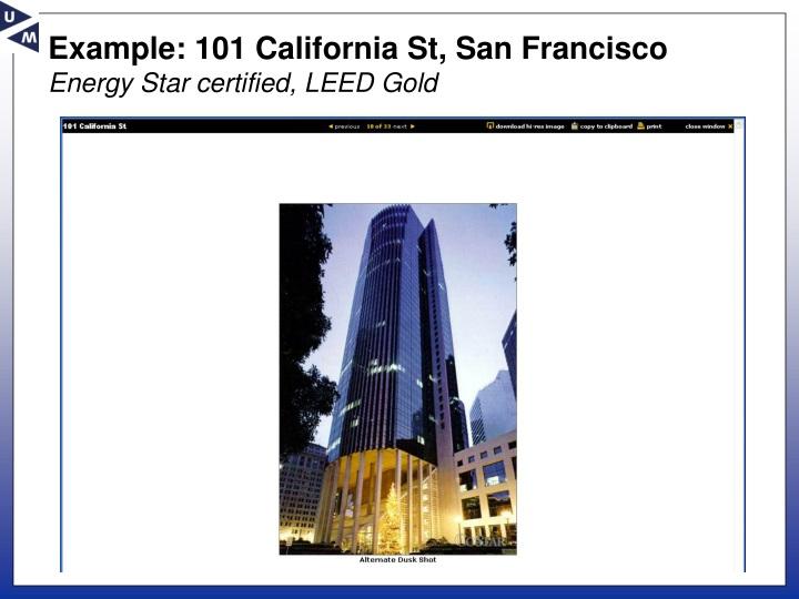 Example: 101 California St, San Francisco