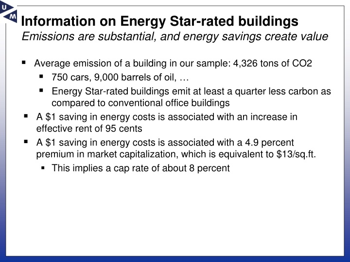 Information on Energy Star-rated buildings
