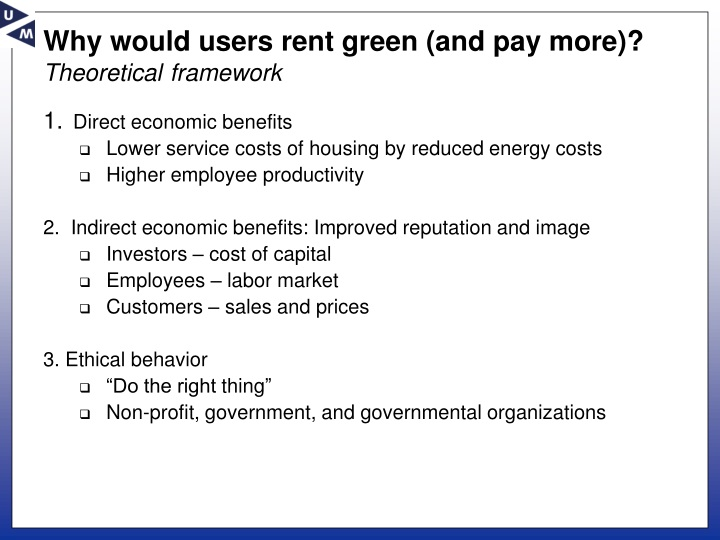 Why would users rent green (and pay more)?