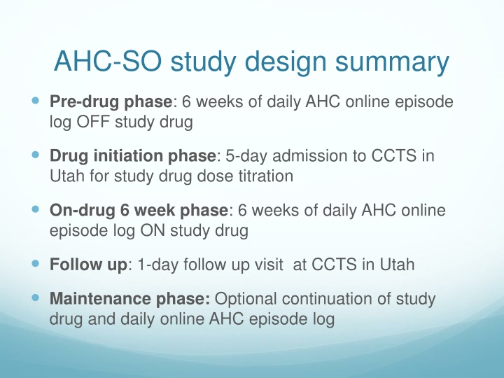 AHC-SO study design summary