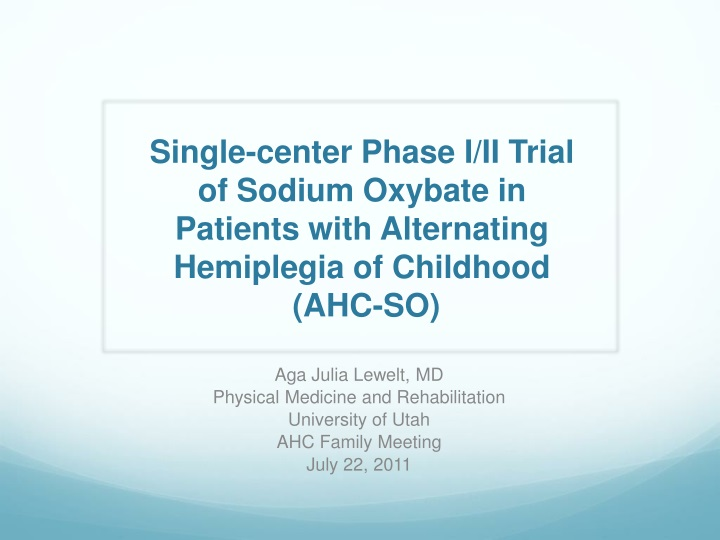 Single-center Phase I/II Trial
