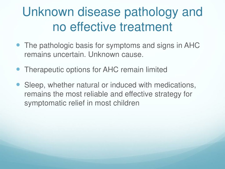 Unknown disease pathology and