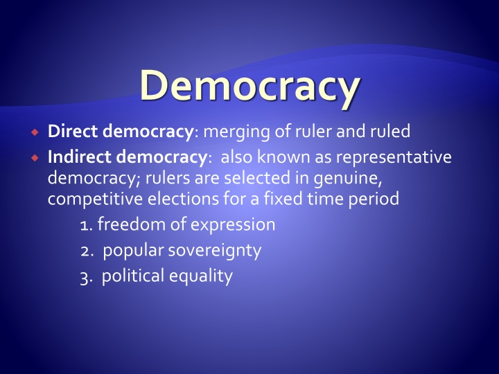 direct democracy vs representative democracy essay Ancient democracy vs lawyer or other official representative to first century know as a democracy even the few examples of direct democracy.