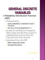 general discrete variables