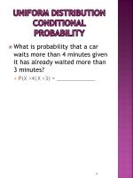 uniform distribution conditional probability