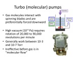 turbo molecular pumps