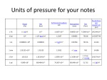 units of pressure for your notes