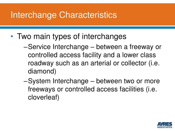 Interchange Characteristics