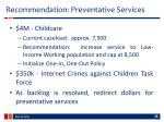 recommendation preventative services
