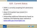 elr current status