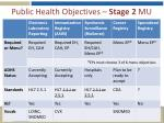 public health objectives stage 2 mu