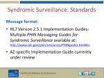 syndromic surveillance standards