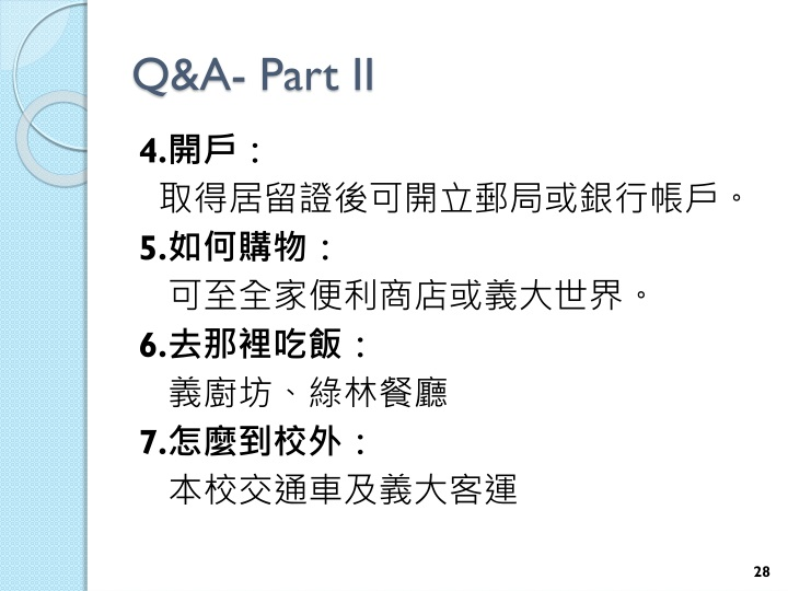 Q&A- Part II