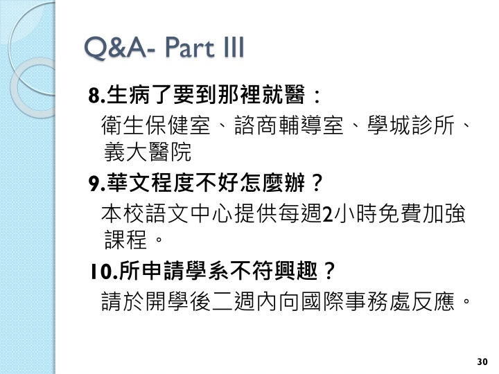 Q&A- Part III