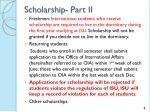 scholarship part ii
