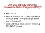 are you actually using the guarantee sales program gsp