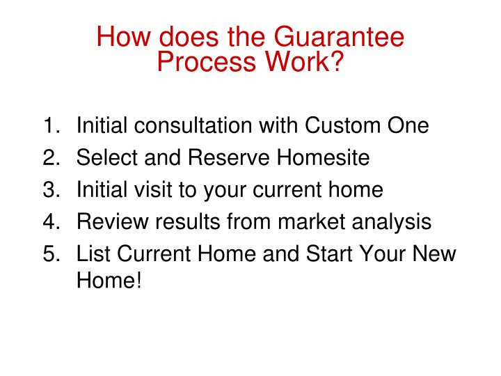 How does the Guarantee Process Work?