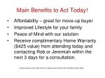 main benefits to act today