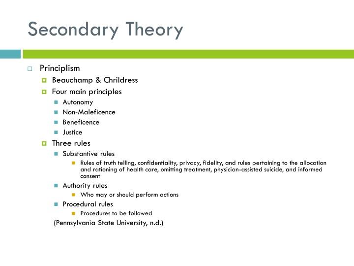 Secondary Theory