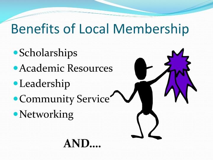Benefits of Local Membership