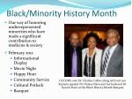 black minority history month