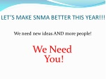 let s make snma better this year