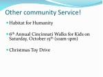 other community service