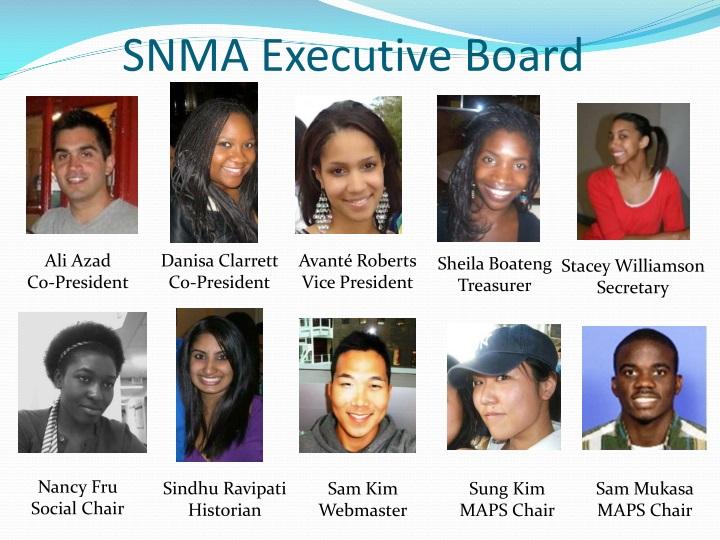 SNMA Executive Board