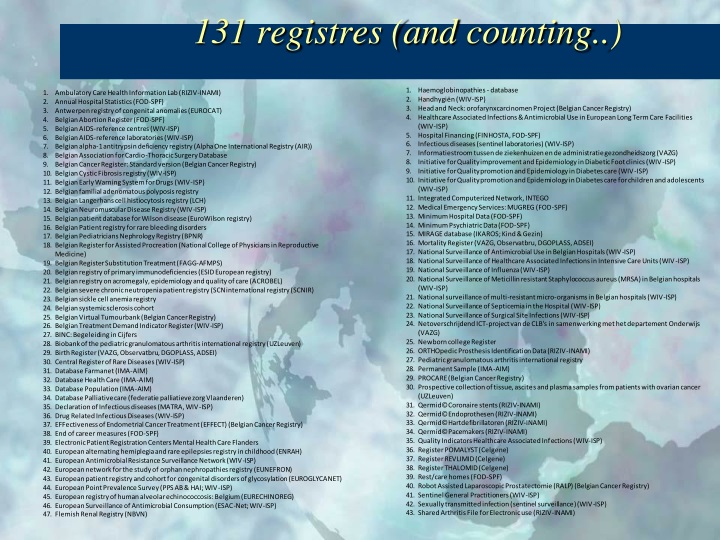 131 registres (and