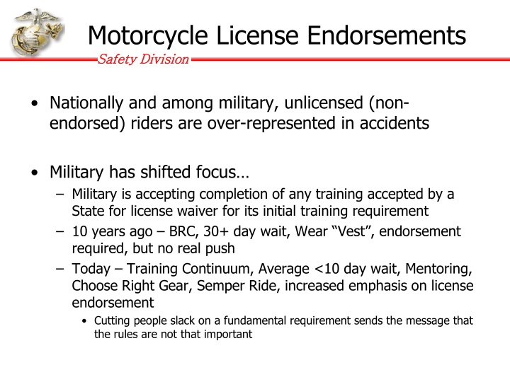 Motorcycle License Endorsements