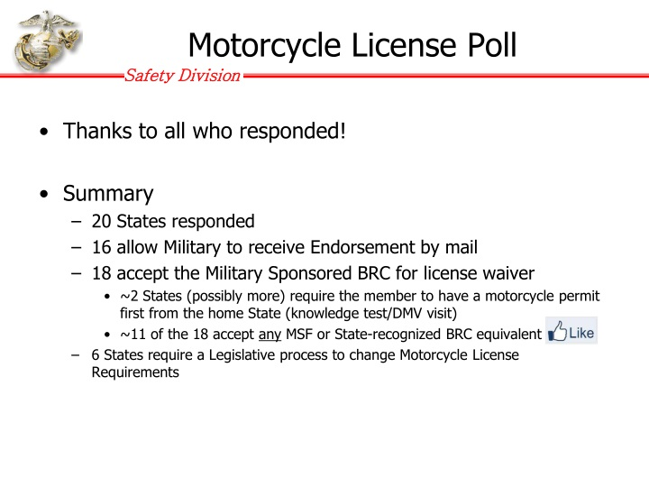 Motorcycle License Poll