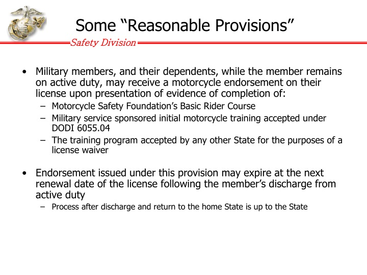 "Some ""Reasonable Provisions"""