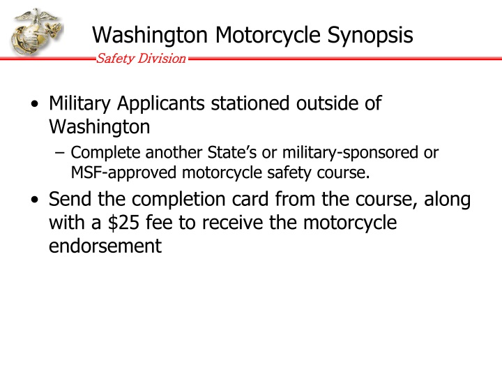 Washington Motorcycle Synopsis