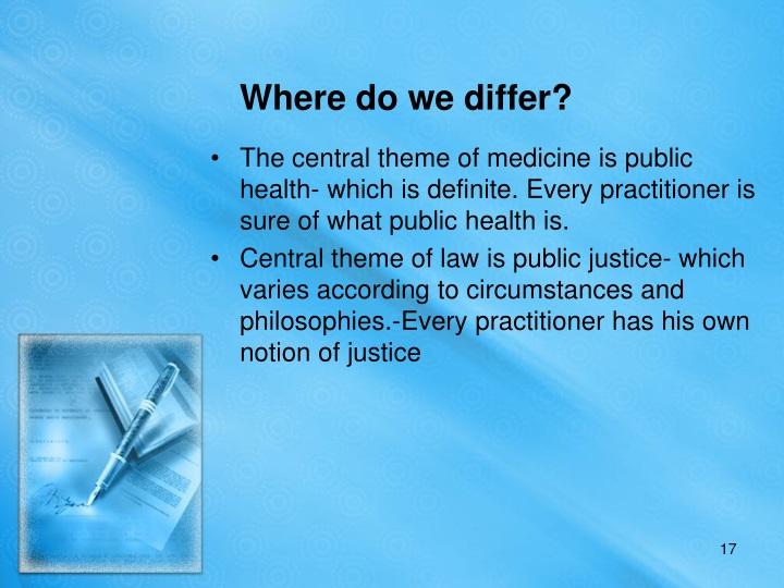 Where do we differ?