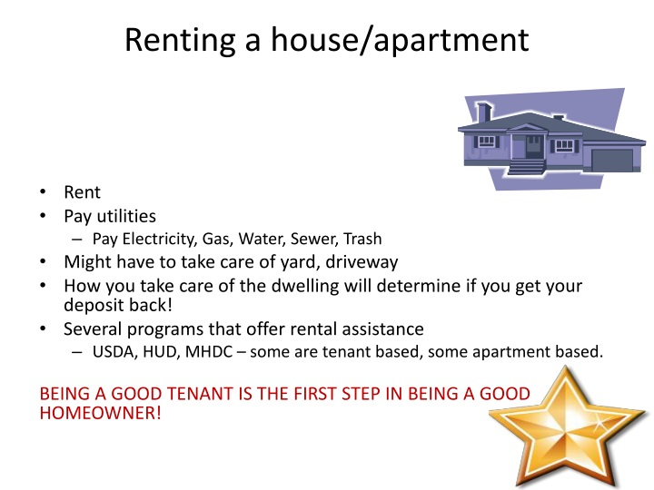 Renting a house/apartment